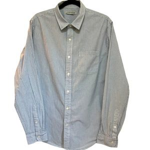 Like New Outerknown Grey/White Striped Shirt sz L